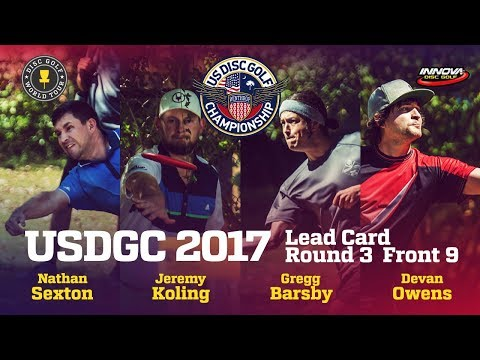 USDGC 2017 Round 3 Lead Card Front 9