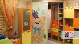 видео Встроенный шкаф-купе в детской комнате