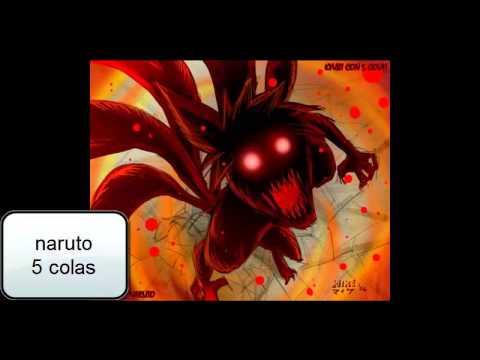 NARUTO Fases Del Zorro De Las 9 Colas - YouTube
