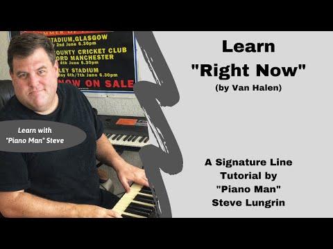 Right Now (Van Halen), Free Signature Line Tutorial!
