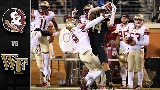 Florida State vs. Wake Forest Football Highlight (2019)