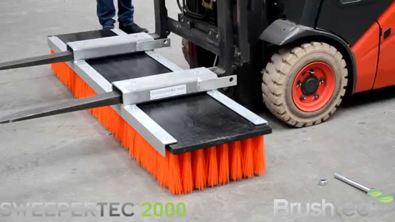 Sweepertec Forklift Sweeper Attachment Assembly Youtube