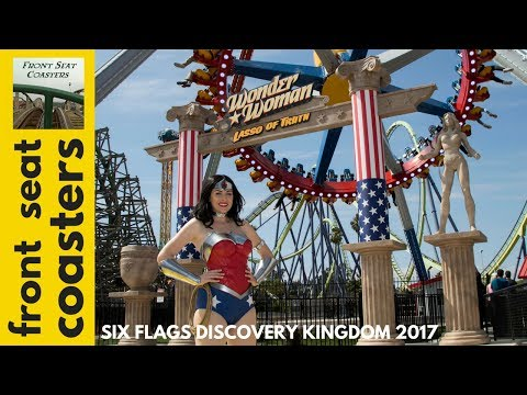 Wonder Woman Lasso of Truth NOW OPEN at Six Flags Discovery Kingdom - New Pendulum Ride For 2017