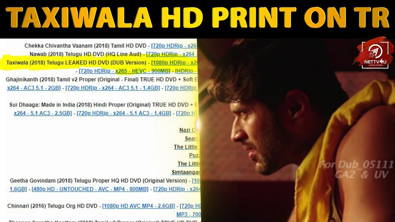 Tamilrockers 2018 taxiwala movie download | taxiwala in tamilrockers