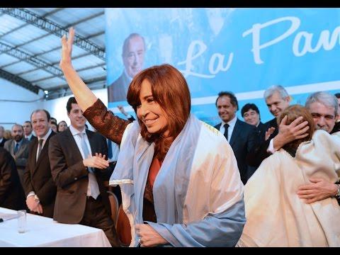 25 de JUN. Cristina Fernández encabeza un acto en Santa Rosa, La Pampa