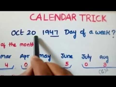 Trick to solve calendar problems in less than 20 secs!!!! ( Telugu)