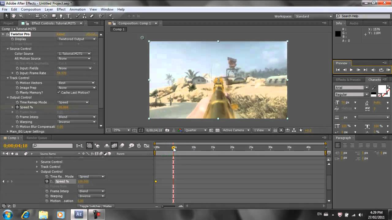 How to Use Twixtor in After Effects CS5 How to Use Twixtor in After Effects CS5 new images