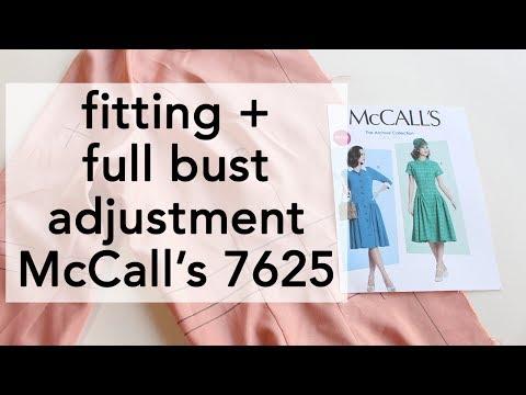 Fitting + Full Bust Adjustment Vintage McCall's 7625 | Vintage on Tap