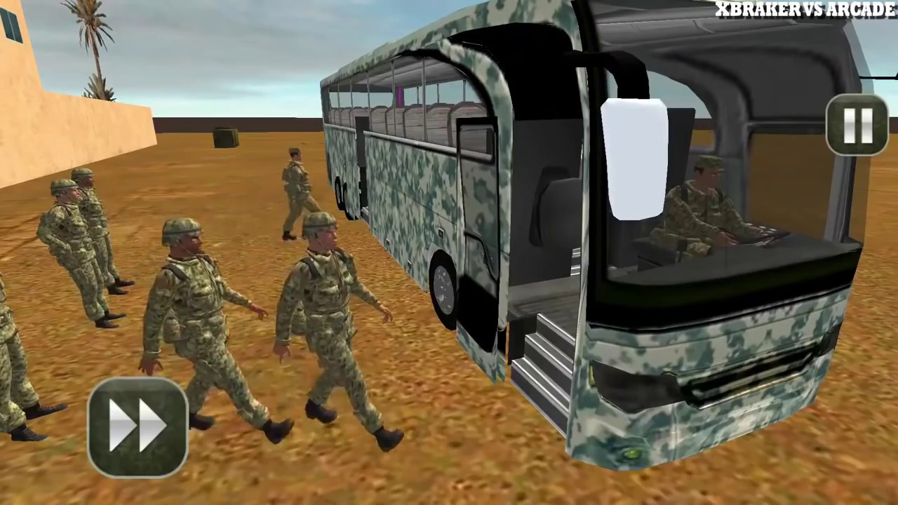 army bus driving 2017 - military coach transporter - Free Car Games ...