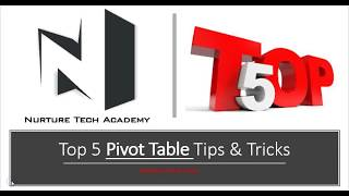 Top 5 Pivot Table Tips & Tricks in Excel