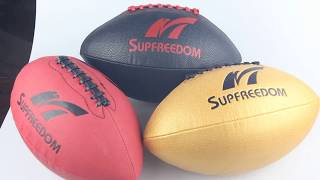 Supfreedom microfiber leather custom Rugby Ball and American Football for sale