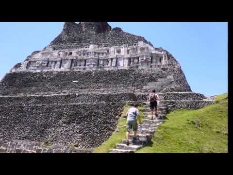 Xunantunich Mayan Ruins  in Belize Central- America and Blue Hole