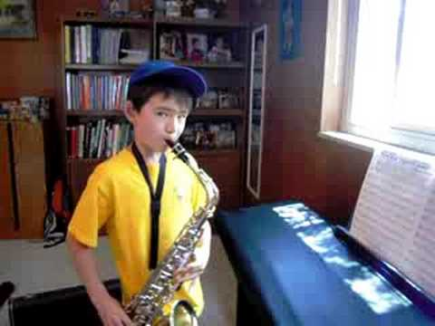 jurrasic park on alto sax
