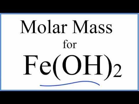 Molar mass molecular weight of feoh2 iron ii hydroxide youtube molar mass molecular weight of feoh2 iron ii hydroxide urtaz Images
