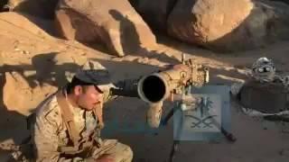 القوات المسلحة تصادر أسلحة ومعدات ثقيلة للحوثيين بعد فرارهم «فيديو»