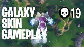 GALAXY SKIN GAMEPLAY - 19 Kills On Console (Fortnite)