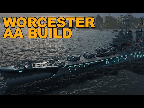 Worcester AA Build into Comeback - World of Warships