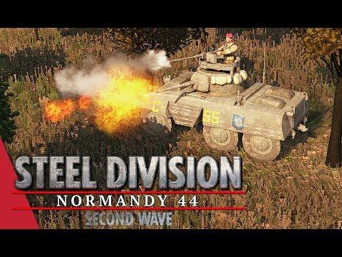 Speedy Spahis! Steel Division: Normandy 44 Gameplay (Sainte-Mère-Église - Duellists, 4v4)