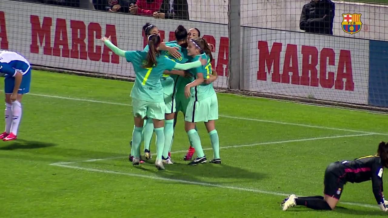 Liga Femenina  Espanyol vs Barça Femenino  1-6  02 11 2016  Jornada 6   Sonido Ambiente 5f0c53bdf5e1b