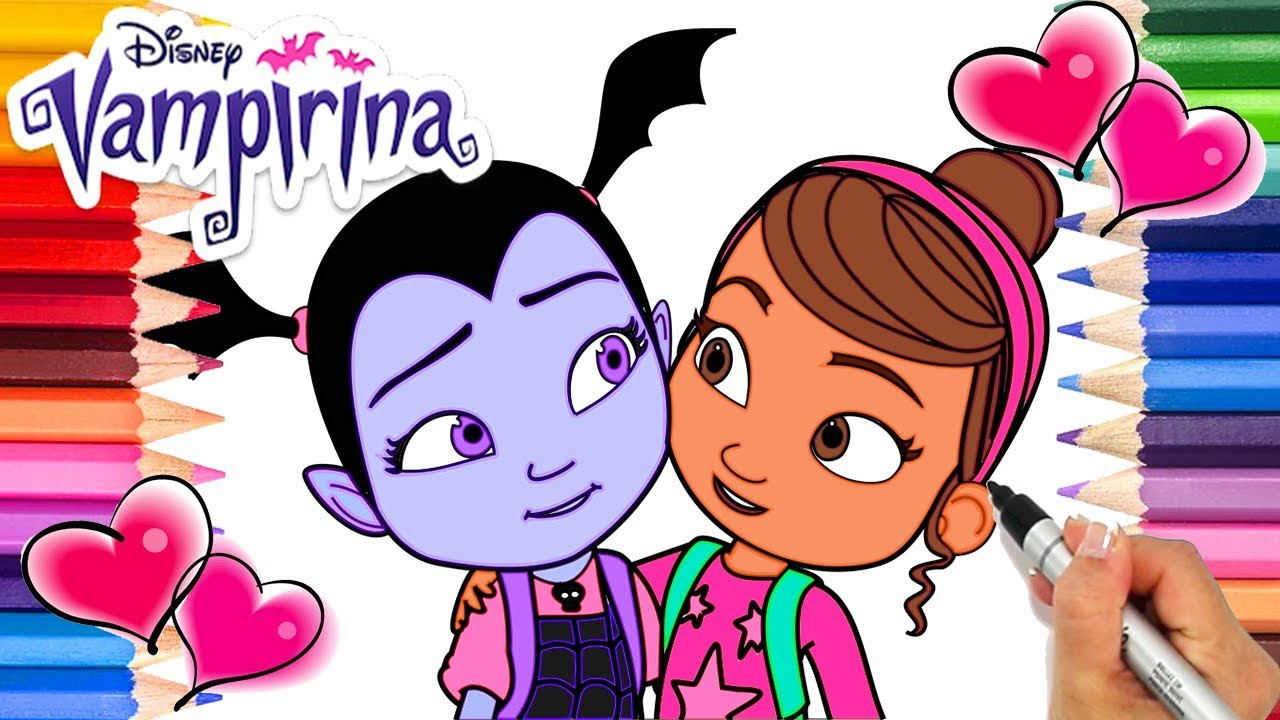 Vampirina and Poppy Coloring Book