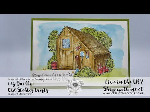 Garden Shed Easy Watercolouring