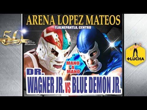 Dr. Wagner Jr. vs Blue Demon Jr., 50 Aniversario Arena López Mateos