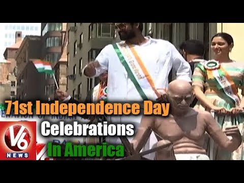 India Day Parade : 71st Independence Day Celebrations In America || V6 USA NRI News