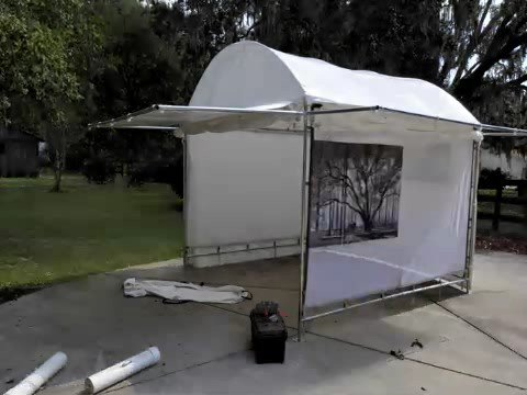 & Kent Weakley Art Show Booth Set Up - YouTube