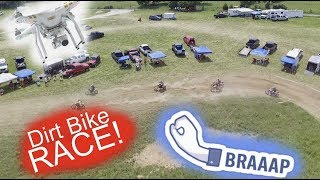 CRAZY Dirt Bike Race THAT COULD HAVE BEEN BAD DRONE FOOTAGE