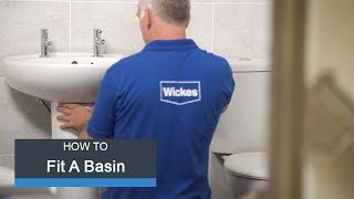Wickes How To Fit a Basin & Taps