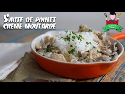 recette-du-sautés-de-poulet-crème-et-moutarde