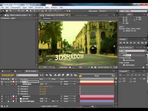 After Effect - 3D Position object