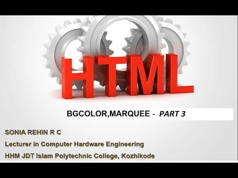 Html Part 3-BGCOLOR,MARQUEE
