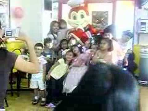 picture  taking with jollibee