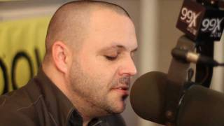 "Justin from Blue October plays ""Hate Me"" acoustic at 99X"