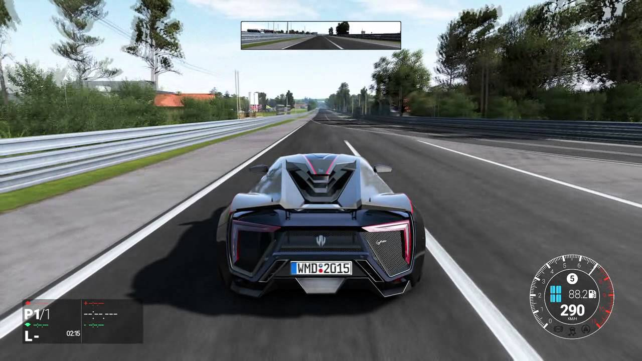 Gentil Project Cars   Lykan Hypersport Top Speed Acceleration And Visual Damage