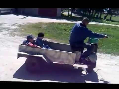 видео: мотороллер с передним приводом