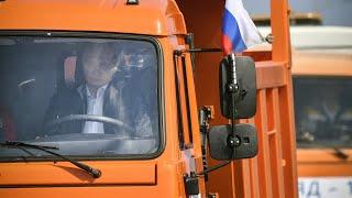 Ukrainekrise: Putin fährt als erster über die Krim-Brücke