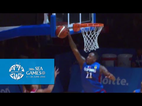 Basketball Mens Indonesia vs Philippines highlights (Day 5)   28th SEA Games Singapore 2015