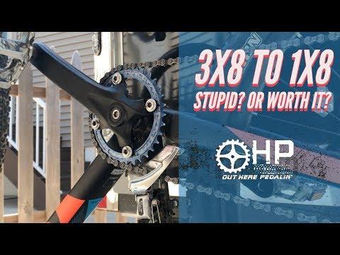 3x8 to 1x8 MTB Conversion - Stupid or WORTH IT?