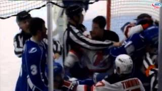 Feb 27, 2015 Reece Scarlett vs Jake Dotchin Albany Devils vs Syracuse Crunch AHL