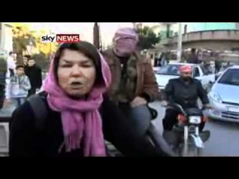 Sky's Alex Crawford reports from Syria