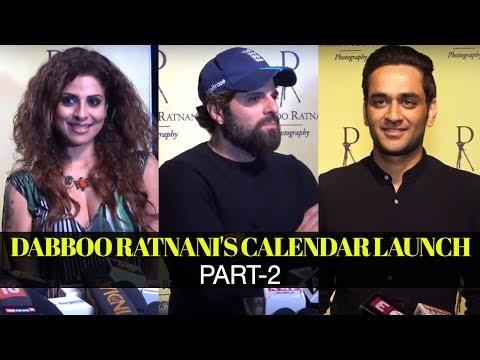 Vikas Gupta, Bakhtiyaar Irani,Tanaaz Irani at Dabboo Ratnani's Calendar Launch-Part-2 | SpotboyE