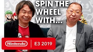 Mr. Miyamoto & Mr. Tezuka Spin the Wheel - Nintendo E3 2019