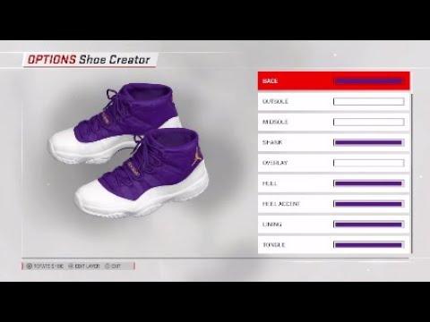 badabe4f5818 NBA 2K18 Shoe Creator  Air Jordan 11 Custom