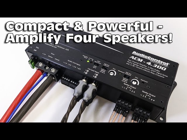 4 Channels of COMPACT POWER! AudioControl ACM-4.300 Amplifier