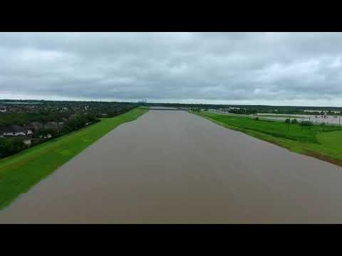 Aerial Footage Captures the Scale of Flooding Near the Brazos River, Texas