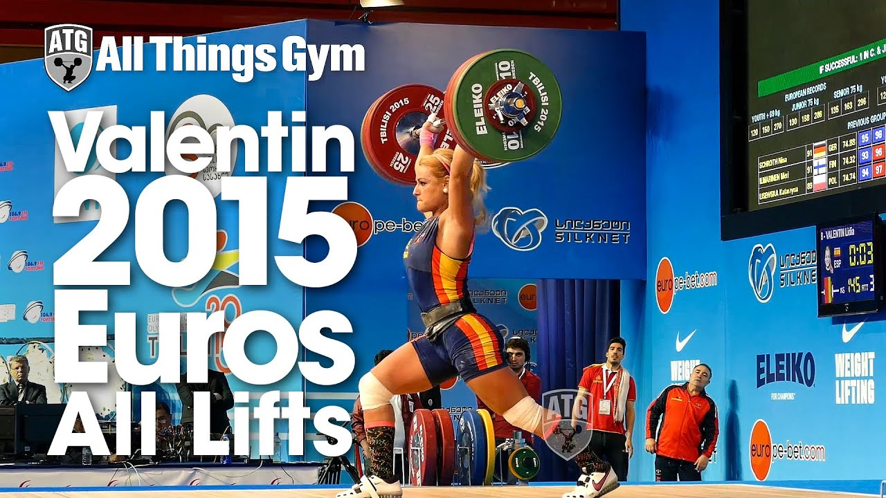 Lydia Valentin All Lifts 2015 European Weightlifting Championships   YouTube
