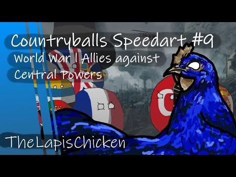 Countryballs Speedart #9 | World War I Allies against Central Powers