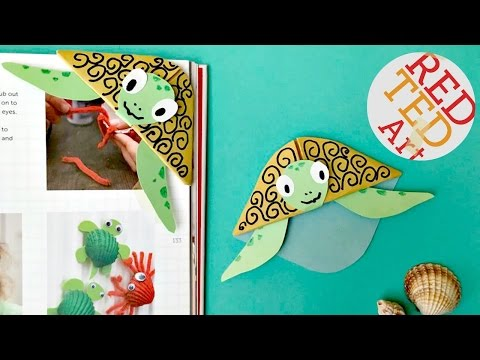 Easy Turtle Bookmark Corner DIY (Bonus Paper Craft Video)
